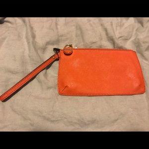 Calvin Klein Orange Wristlet/ Purse
